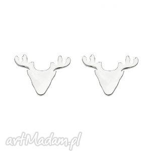 sotho srebrne kolczyki jelenie - jeleń blogerskie, modowe, srebro