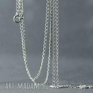 naszyjniki łańcuszek typu rombo z jasnego srebra próby 925, srebrny