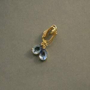 unikalny, klipsy cieniowane, szkło, delikatne, eleganckie, małe