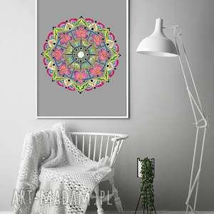 oryginalny prezent, mandala 50x70cm, plakat, plakaty, mandala, kwiaty, dom, sztuka