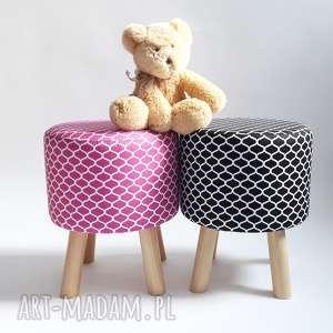 Pufa Różowe Maroco, marco, taboret, stołek, ryczka, dziecko, salon