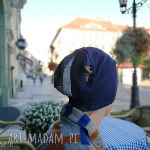 czapka damska mała sportowa granat, czapka, mała, damska, dziecięca, kolorowa