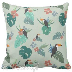 poduszka dekoracyjna tukan tropic 6524, tropic, tukan, kawiaty