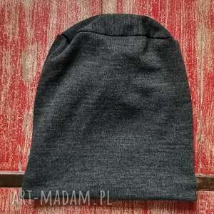 chustki i apaszki czapka męska grafitowa na podszewce, ciepła, polecam box f1