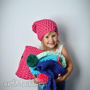 czapka monio 08, czapka, dziecko, wełna, szydełko, włóczka, zima, święta prezent