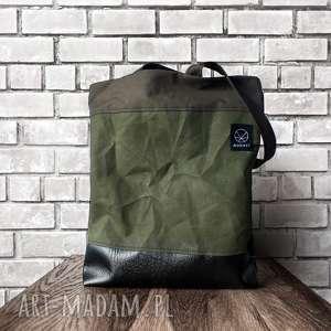 pomysł na upominek Torebka torba CANVAS CRUSHED , płótno, szkoła, prezent, khaki