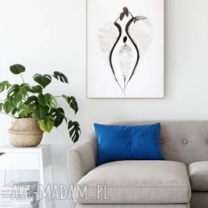 dom grafika 50x70 cm wykonana ręcznie, plakat, abstrakcja, elegancki minimalizm, obraz