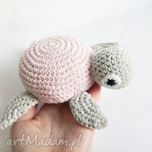 Żółwik Ernest - ,żółw,maskotka,przytulanka,morze,szydełko,