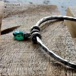 ręczne wykonanie bransoleta - srebro i kwarc rama green