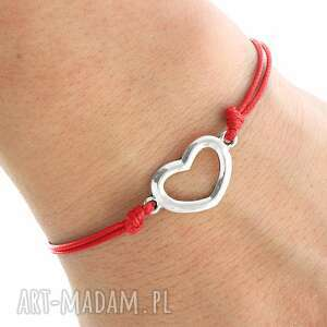 lavoga simply charm - red twine with heart - sznurek