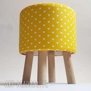 ręcznie wykonane pufa żółte serduszka - 36