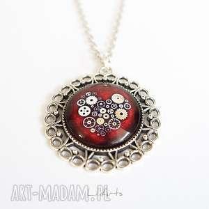 medalion, naszyjnik - serce steampunk, naszyjnik, wisiorek