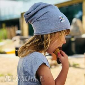 brain inside czapka cienka kids szara, przejściowa, slouch, slouch