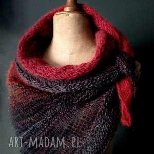 Ciepła chusta szaliki the wool art chusta, szal, jesiennachusta