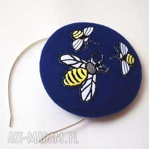 fascynatory bzzz, pszczoła, toczek, filc, fascynator, oryginalny prezent
