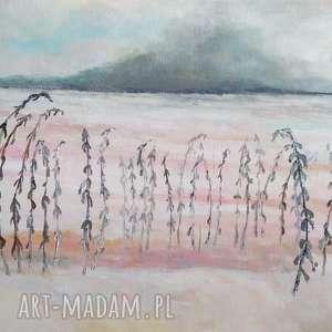 paulina lebida jesienne trawy obraz akrylowy formatu 30/40 cm, trawy, akryl