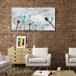 handmade obrazy obraz xxl dmuchawce turkusowe d7 -120x70cm obraz na płótnie