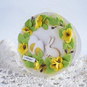 wielkanocna na okrągło - wielkanocna, kartka, wiosenna, świąteczna, jajko