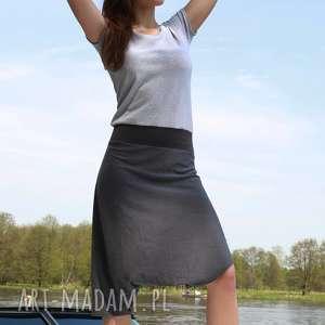 sukienki paris look-kombinezon, kombinezon, spodnie, wygodny, szary, bawełniany