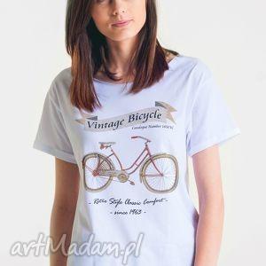 BICYCLE -Koszulka Oversize szeroki dekolt T-shirt, oversize, koszulka, ona, tshirt