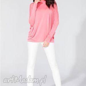 Bluzka 2w1 T139 różowy, bluzka, szeroka, wygodna, fikuśna