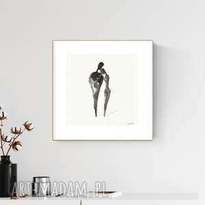 art krystyna siwek grafika 30x30 cm wykonana ręcznie, abstrakcja, obraz