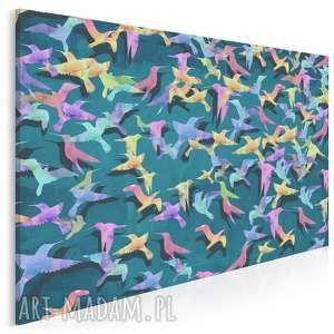 obraz na płótnie - koliber ptaki 120x80 cm 46501, koliber, ptaki, kolory