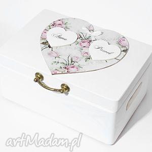 ślubne pudełko na koperty kopertówka personalizowane, pudełkonakoperty, vintage