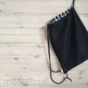 ręcznie zrobione plecak miejski czarna pianka