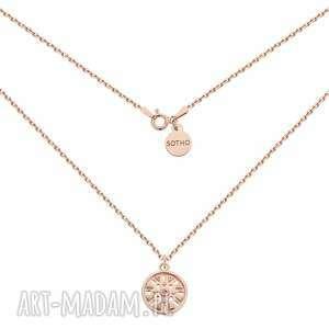 naszyjnik z różowego złota z medalionem - łańcuch