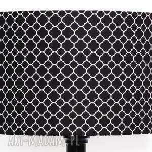 majunto abażur little fresh black 40x40x25cm od majunto, koniczyna, marokańska