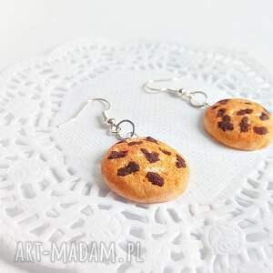 Kolczyki - ciasteczka z kawałkami czekolady - Ręcznie robione