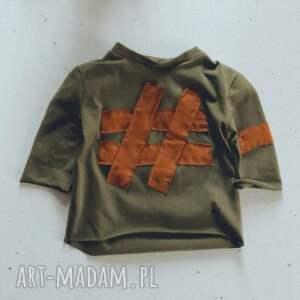 hand-made bluzka dziecięca karmel