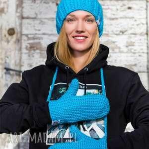 hand-made rękawiczki błękit do wynajęcia