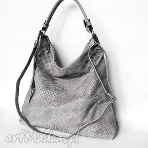 Duża torba na ramię szara, torba, torebka
