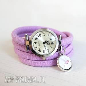 zegarek, bransoletka - koliber owijany, fioletowy