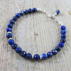 Kobieca bransoletka z lapis lazuli irart lazuli, srebro