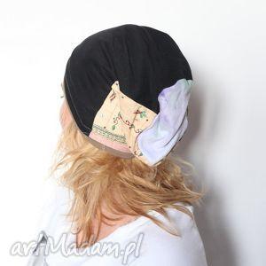 Prezent wiosenna patchworkowa czapka damska, czapka, patchwork, kolorowa, wiosna