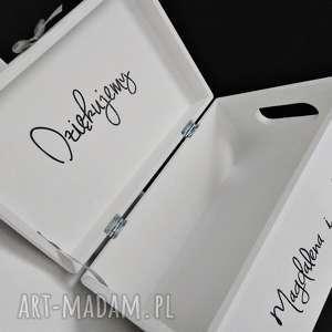 Ślubne pudełko na koperty Personalizowane, pudełkodekoracyjne, ozdoby, dodatki
