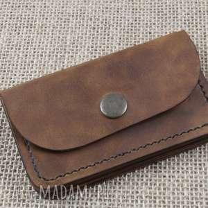 portfel skórzany z kieszonką na monety, skóra, portfel, etui, karty, grawer