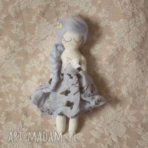 wiosenna bajka - błękitna wróżka, bajka, lalka, sukienka, motylki