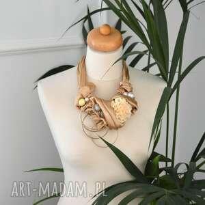 ręcznie wykonane naszyjniki złote piaski naszyjnik handmade