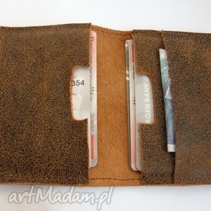 ręcznie wykonane etui skórzane na karty i dokumenty
