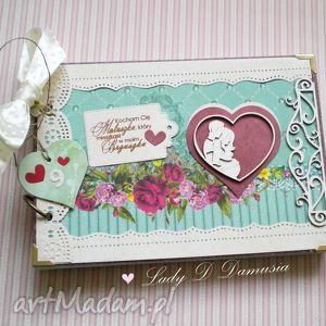 ręcznie robione scrapbooking notesy stylowy pamiętnik ciążowy / nasze 9 miesięcy