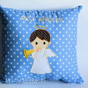 hand-made pokoik dziecka poduszka aniołek - chłopczyk