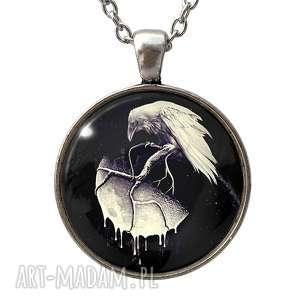 tajemnice nocy - duży medalion z łańcuszkiem - księżyc