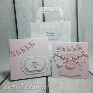 zestaw maluszkowe ubranka - pamiątka, pudełko, chrzest, urodziny, narodziny