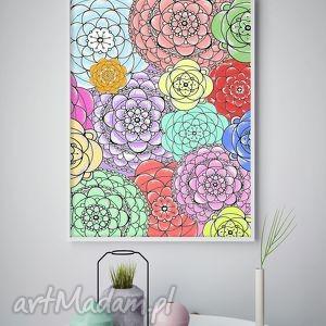 Plakat A2, kwiaty, kwiatki, plakat, obraz