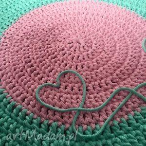 Dywan Bawełniany pastel 120cm ze sznurka - Kolorowa Manufaktura , dywan, salon, pokój