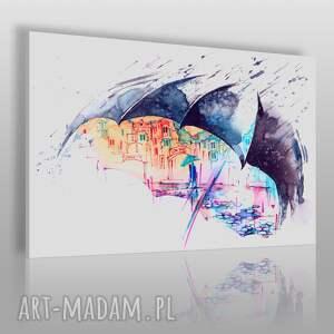 obraz na płótnie - parasol para kolorowy 120x80 cm 68501, parasol, parasolka